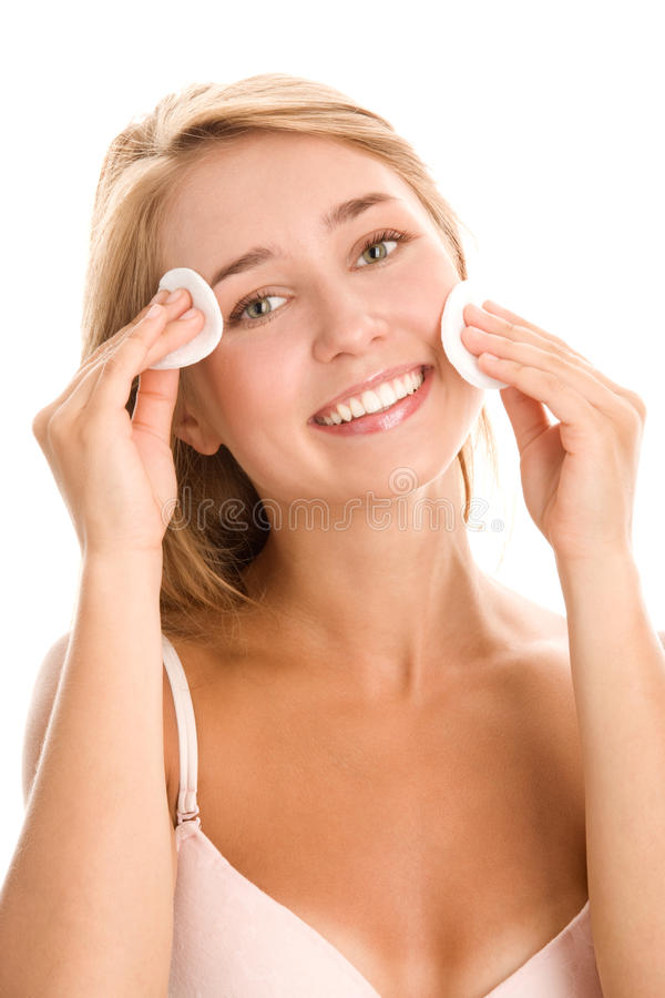 Download Woman Removing Makeup Royalty Free Stock Image - Image: 18143776