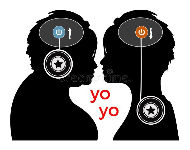 Yo-yo effect royalty free illustration