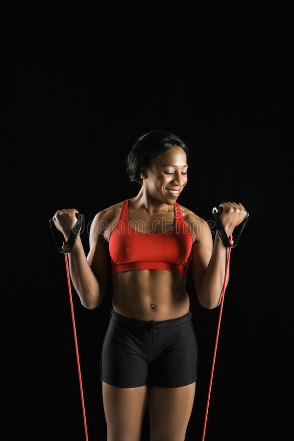 Download Woman with resistance band stock image. Image of colour - 2678953