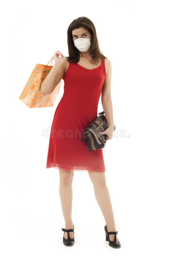 Download Woman in respirator stock photo. Image of head, environment - 5981130