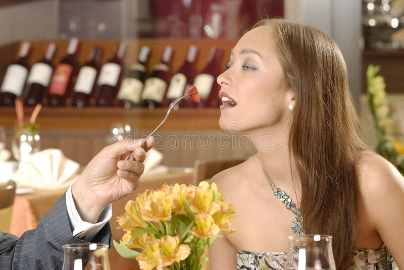 Download Woman in restaurant stock image. Image of beauty, dinner - 12540585