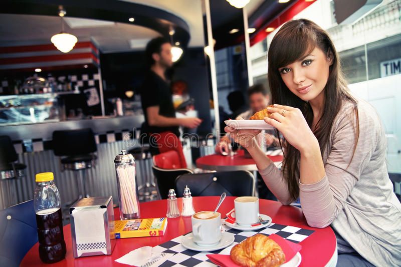 Download Woman At Restaurant Stock Photography - Image: 23622882