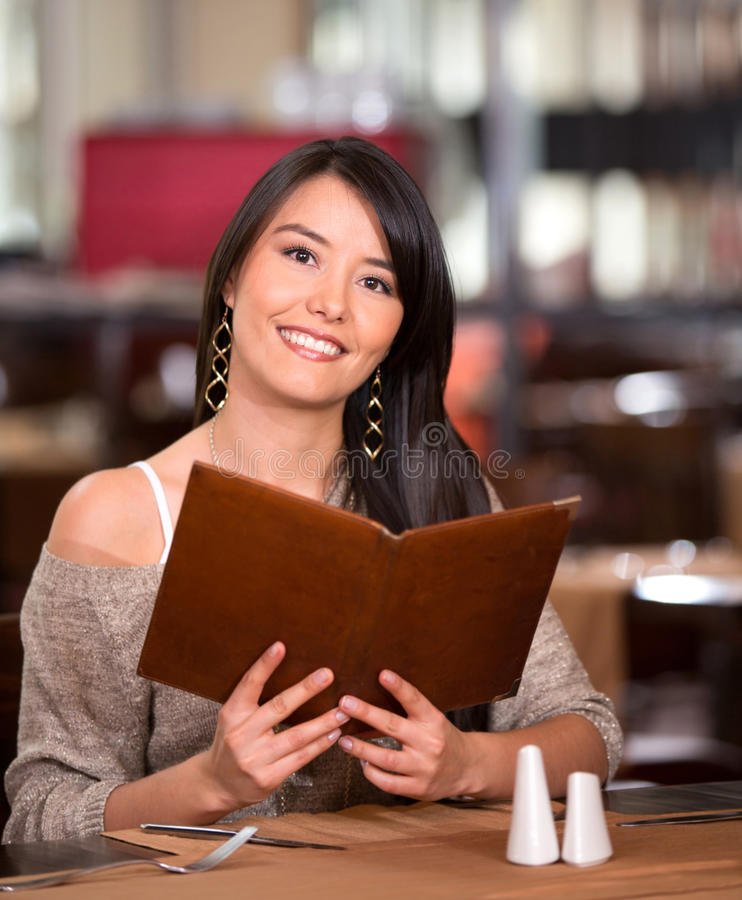 Download Woman in a restaurant stock image. Image of sitting, casual - 28772117