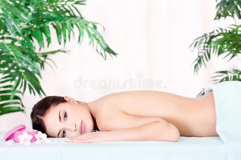 Download Woman Resting After Massage Stock Image - Image: 27294745