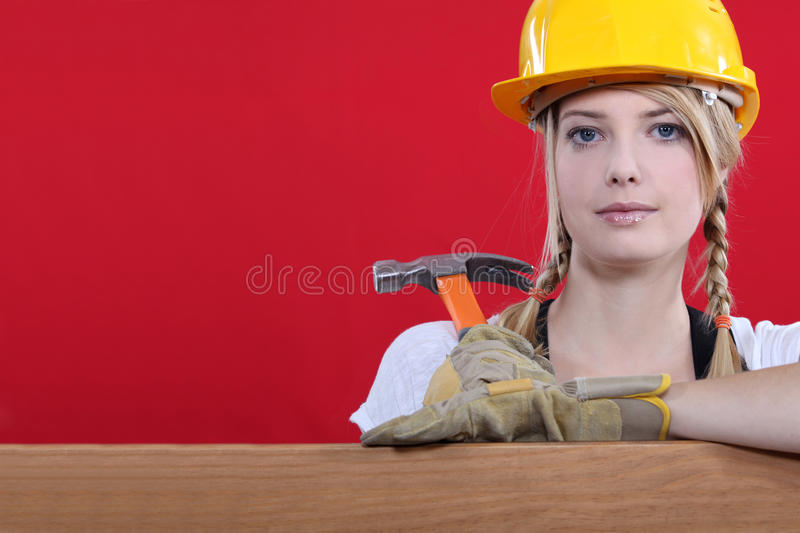 Download Woman Resting On Wooden Beam Stock Image - Image: 29639861