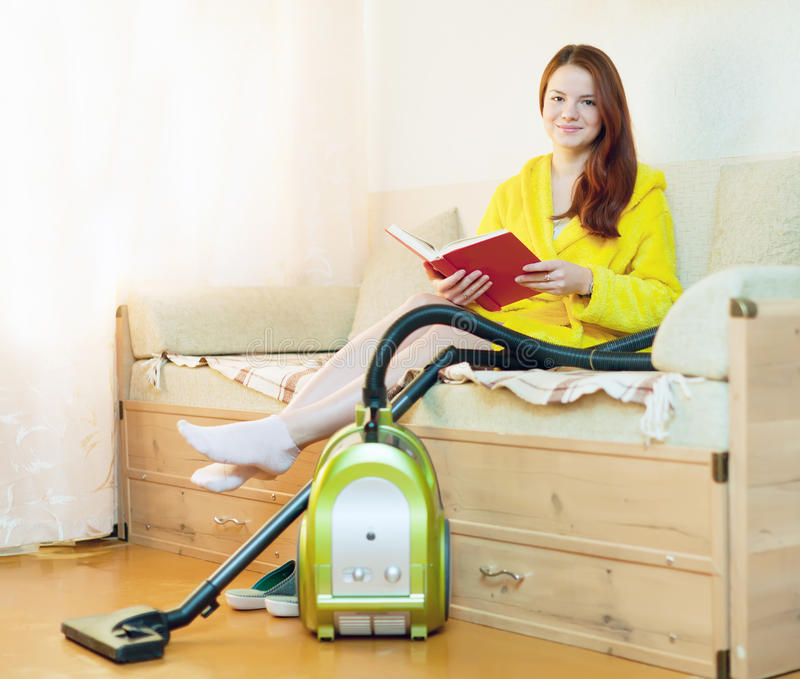 Download Woman Rests From Household Chores Stock Photo - Image: 27155094
