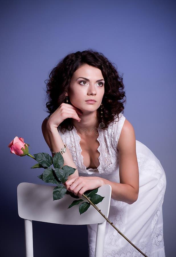 Download Woman In Retro Bridal Dress Stock Image - Image: 25450405