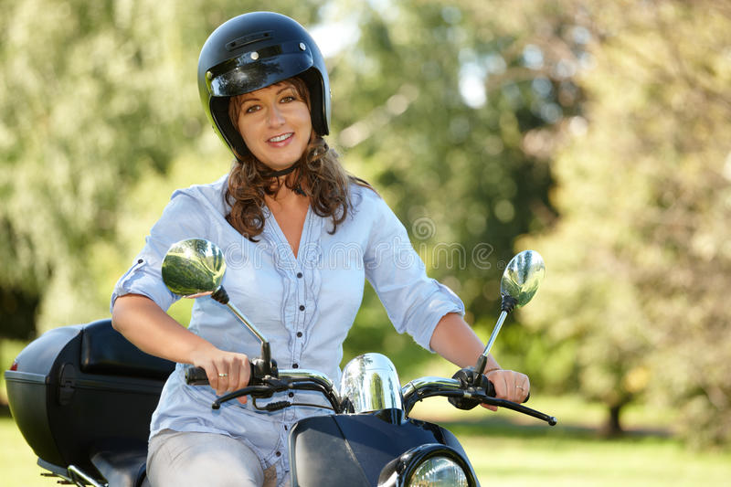 Download Woman riding stock image. Image of outside, vintage, girl - 21993665