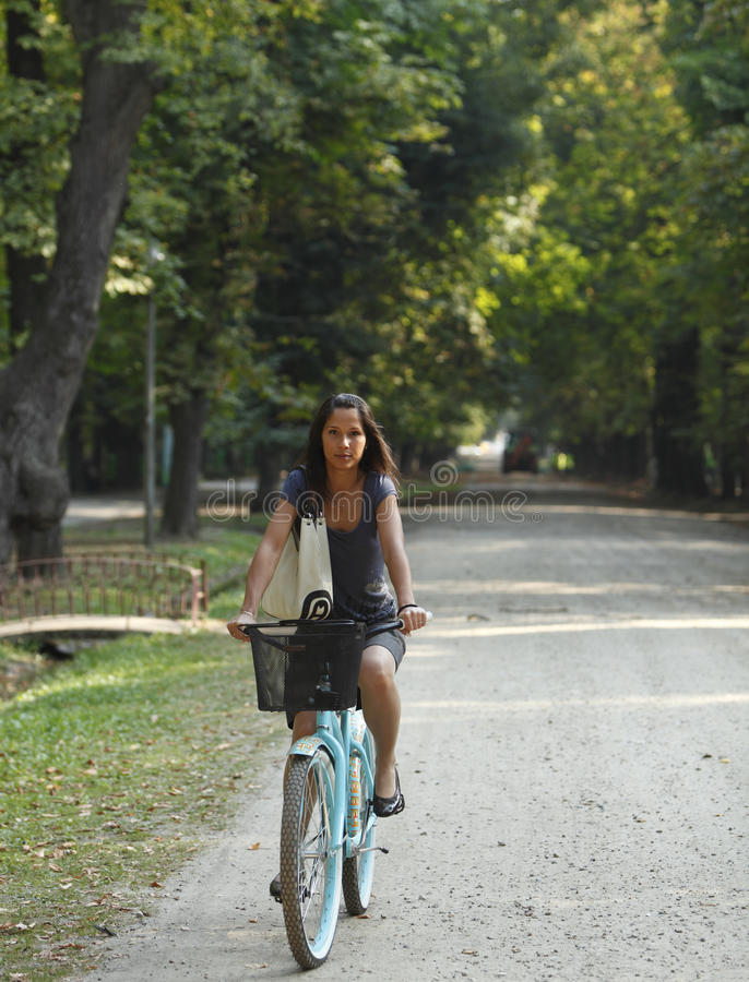Download Woman Riding A Bicycle Stock Images - Image: 11487934