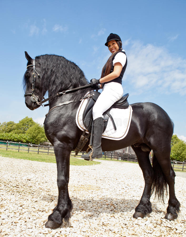 Download Woman riding a horse stock photo. Image of horsewoman - 23764266
