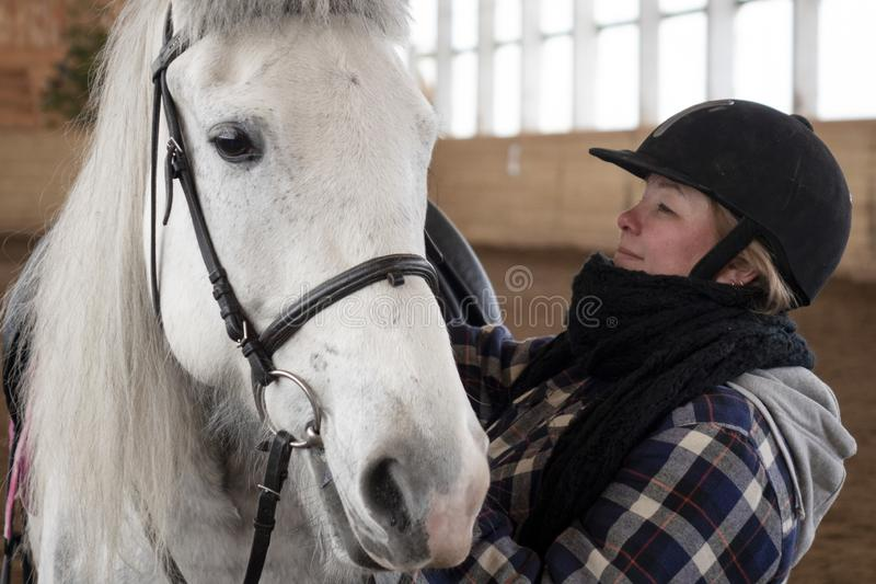 Woman Rider with Thoroughbred Horse