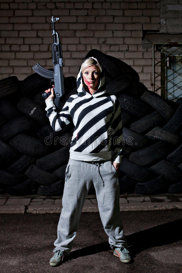 Download Woman With A Riffle Royalty Free Stock Photos - Image: 28026148