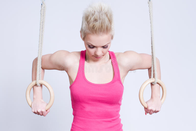 Download Woman On Rings Royalty Free Stock Images - Image: 24430529