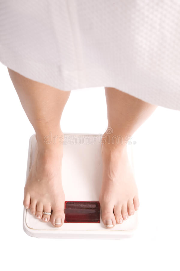 Download Woman in robe on scales stock image. Image of figure - 11653775