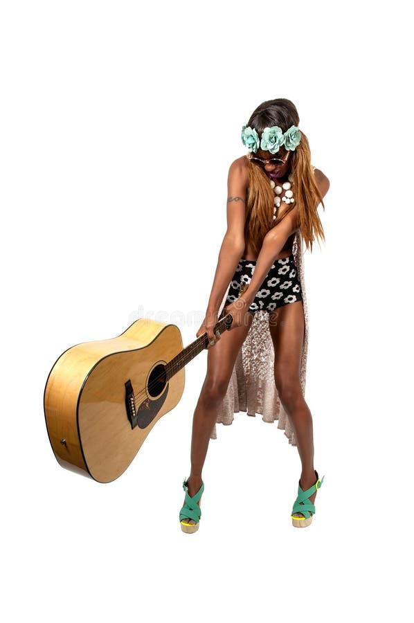 Woman Rock Star royalty free stock image