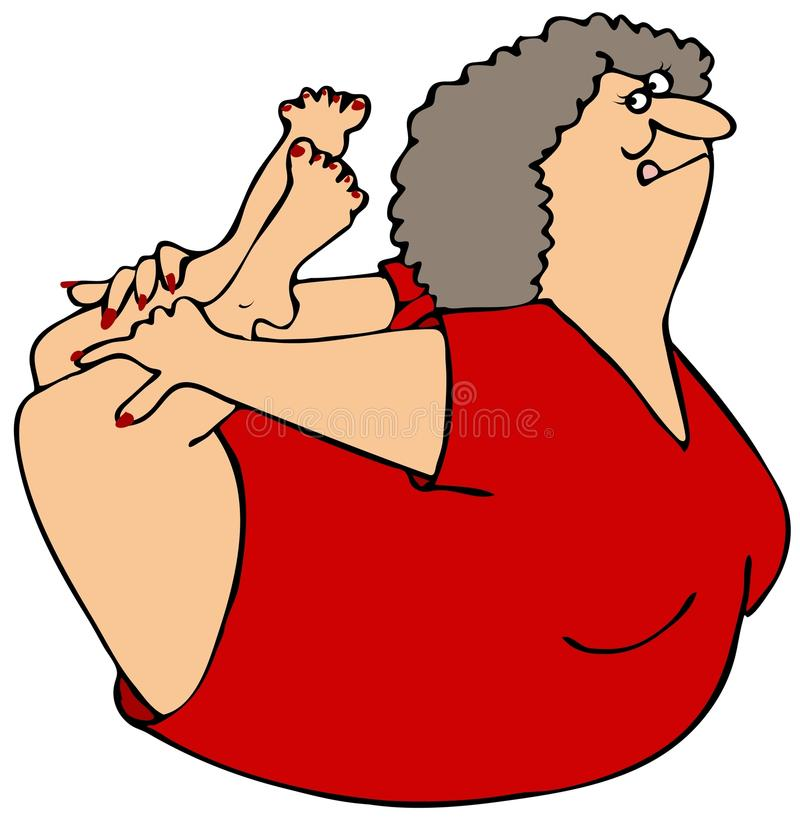 Download Woman rocking on her belly stock illustration. Illustration of female - 35092156