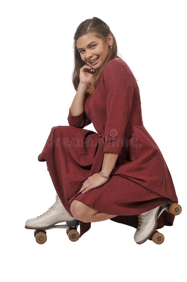 Woman On RollerSkates royalty free stock photos