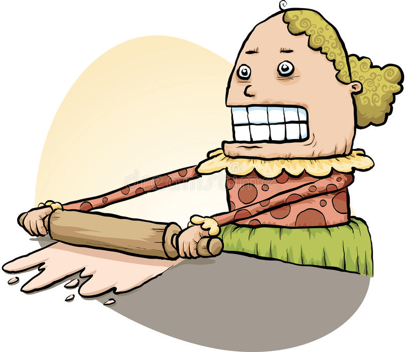 Woman Rolling Dough vector illustration