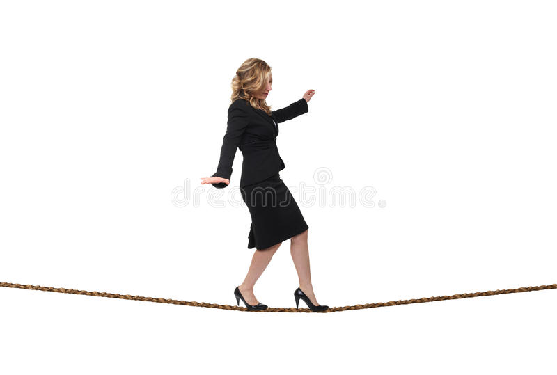 Download Woman on rope stock photo. Image of balance, metaphor - 19165182