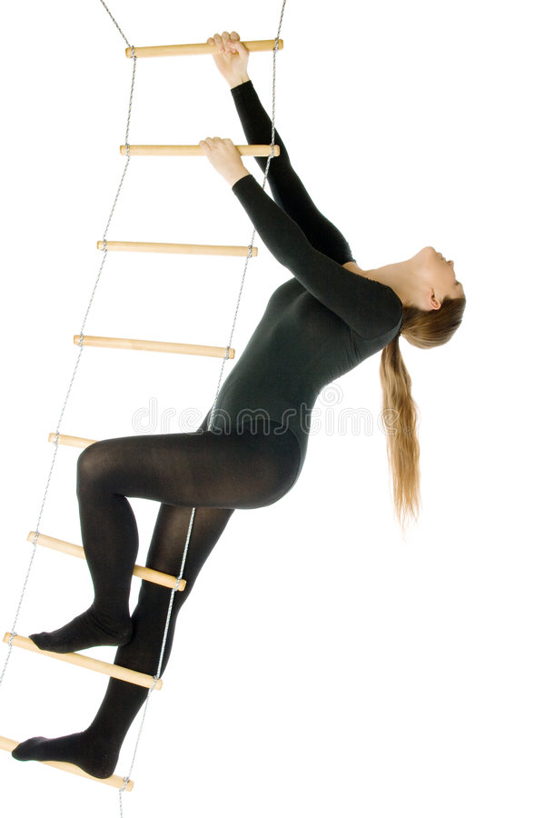 Download Woman on a rope ladder stock image. Image of healthcare - 6220483