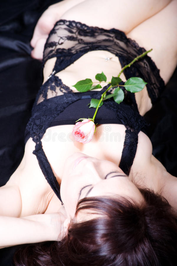Download Woman And Rose Stock Image - Image: 23127571