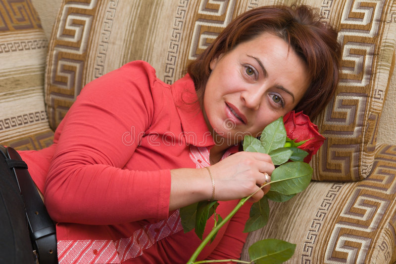 Download Woman With Rose Stock Image - Image: 7090811
