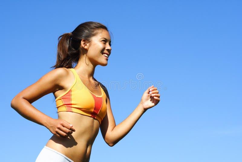 Woman runner royalty free stock photos