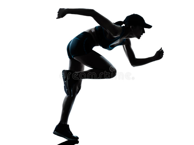Woman runner jogger royalty free stock photography