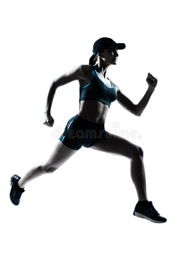 Woman runner jogger stock image