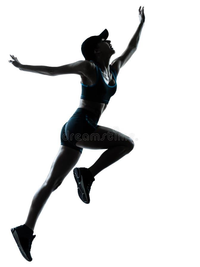 Download Woman Runner Jogger Jumping Stock Photo - Image: 25445496