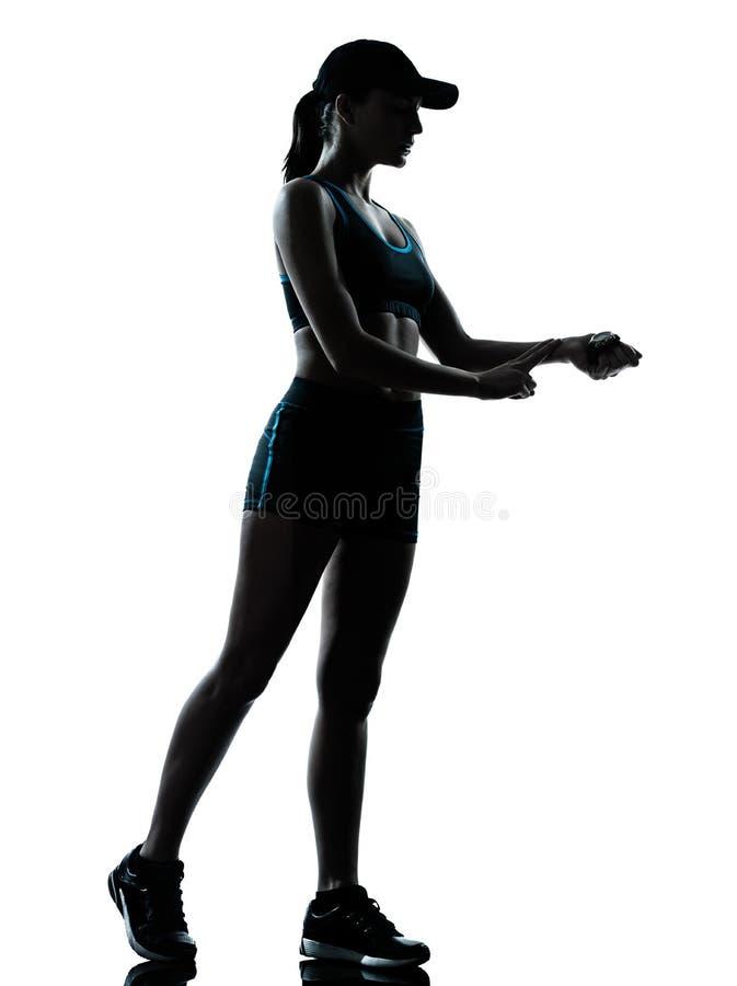 Woman runner jogger royalty free stock photo