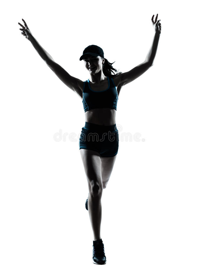 Download Woman Runner Jogger Victorious Stock Photo - Image: 24867588