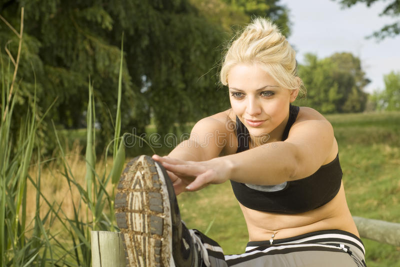 Download Woman Runner Stretching Hands Forward Stock Image - Image: 21516179