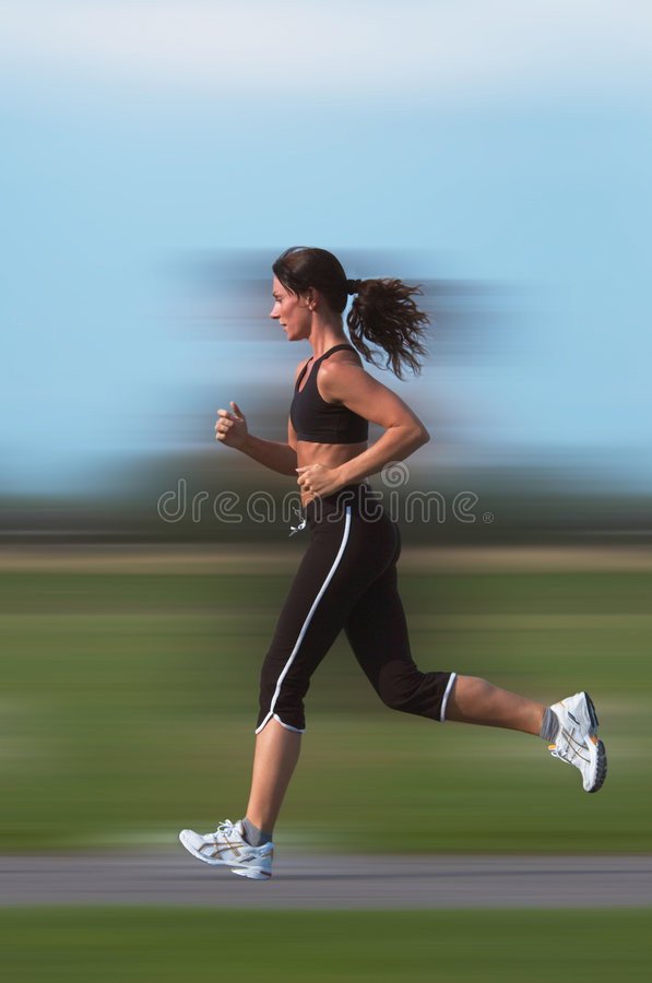 Download Woman running stock photo. Image of runner, action, track - 1249992