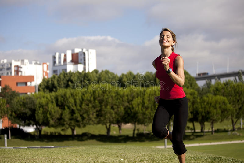 Download Woman running stock image. Image of copyspace, adult - 12899881