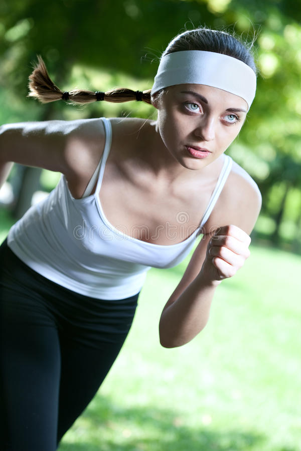 Download Woman running stock photo. Image of outdoor, healthy - 20101034