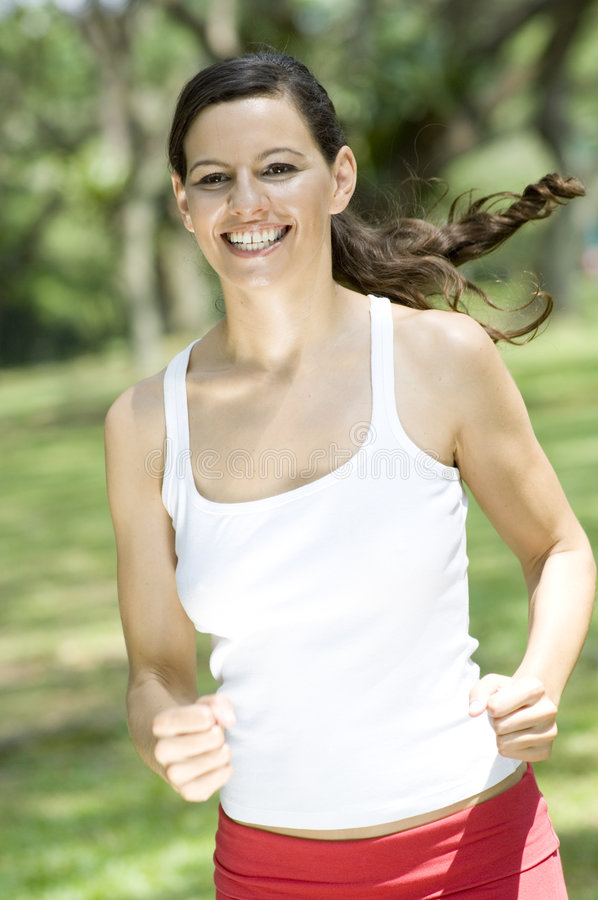 Download Woman Running stock image. Image of brunette, jogging - 2058115