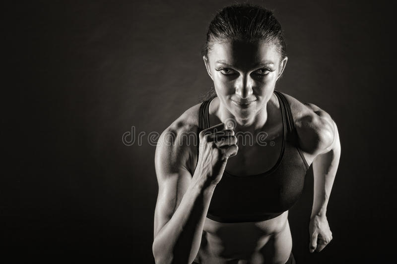 Download Woman running stock photo. Image of alone, front, leisure - 25395728