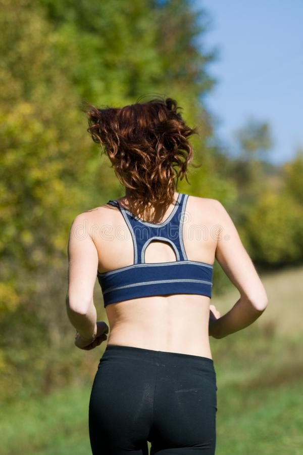 Woman and running stock images