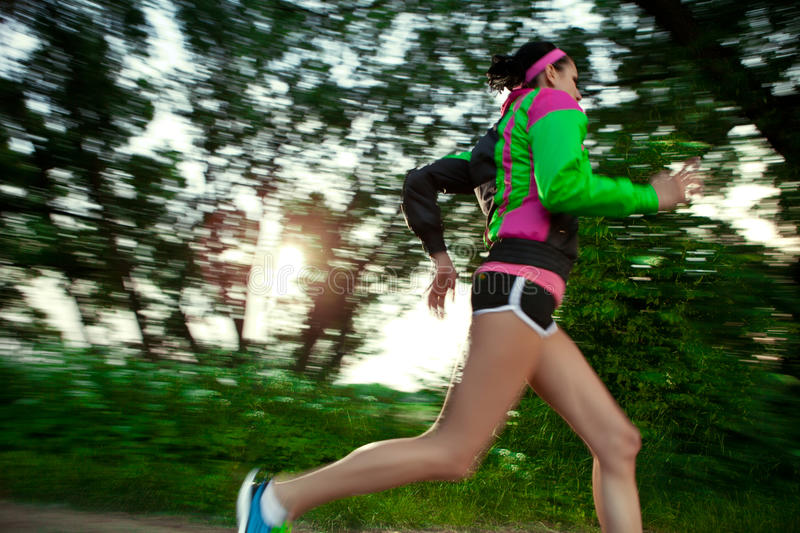 Download Woman Running In The Countryside Stock Image - Image: 31674141