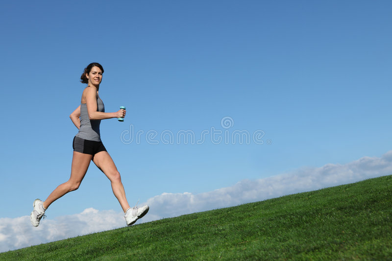Woman running or jogging