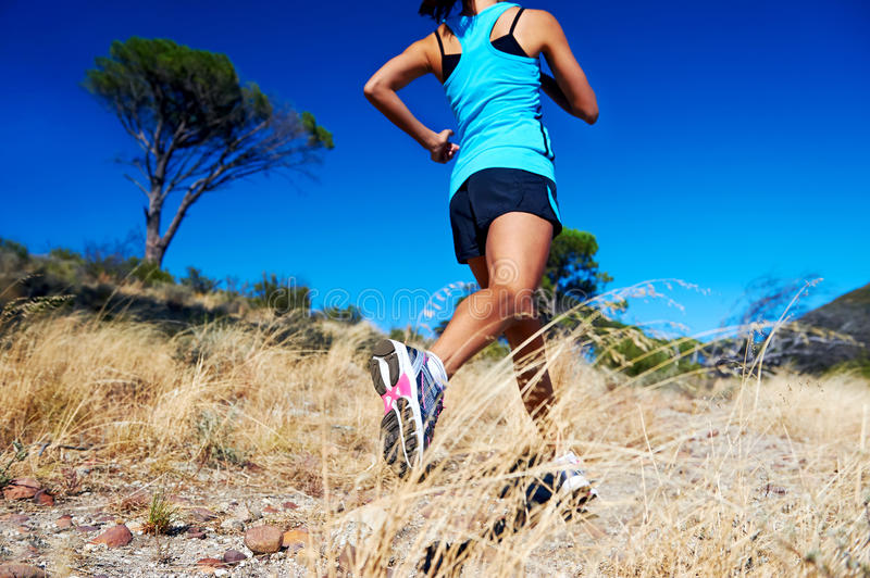 Fast running athlete stock photography