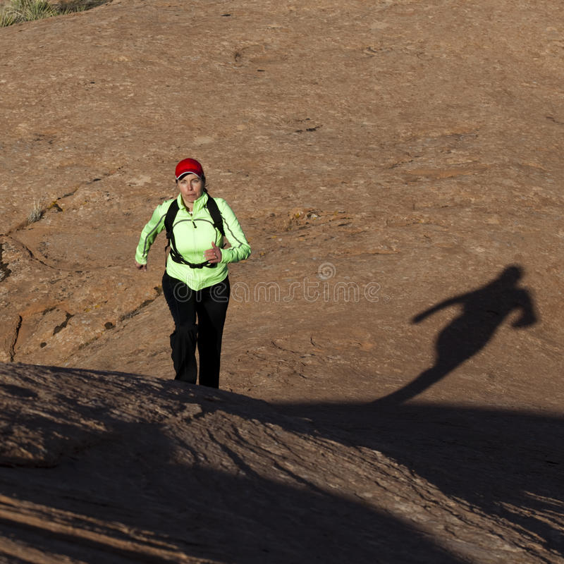 Download Woman Running Outdoors Royalty Free Stock Photos - Image: 16654458