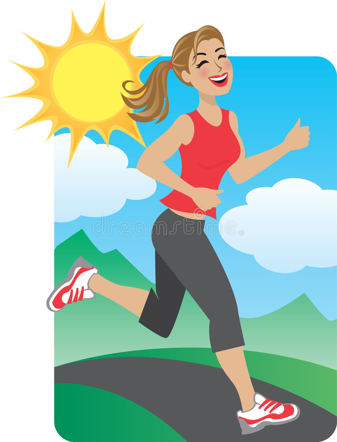 Woman Running In The Park Royalty Free Stock Image