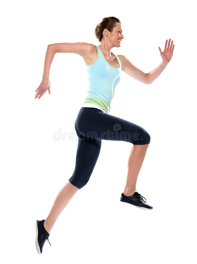 Woman running run runner sprinting royalty free stock images