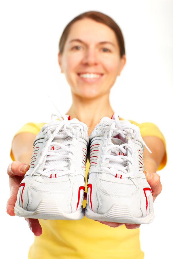 Download Woman, Running Shoes Royalty Free Stock Photos - Image: 7807498