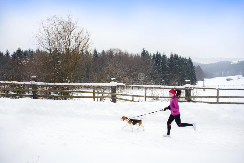 Download Woman running in winter stock photo. Image of athletic - 28939416