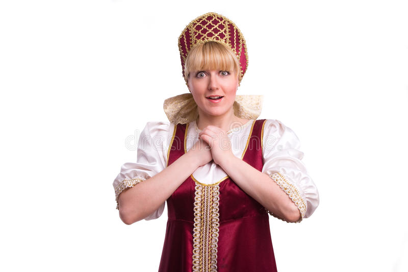 Download Woman In Russian Traditional Costume Stock Image - Image: 14446089