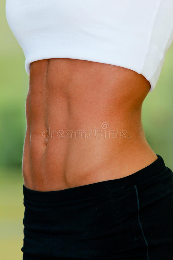 Download Woman's abdomen stock photo. Image of sports, shorts - 22246702