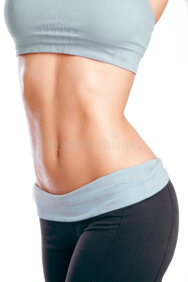 Woman's Abs stock photography